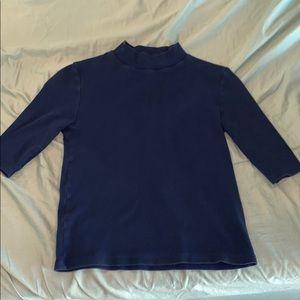 Zara blue mid sleeve shirt